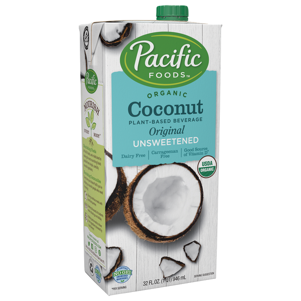 Pacific Foods, Unsweetened Coconut, Milk 1 qt.