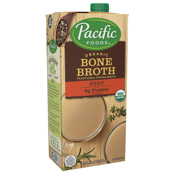 Pacific Foods, Organic Beef Bone Broth 32oz