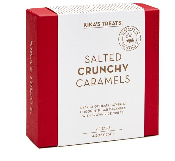 Kika Treats, SALTED CRUNCHY CARAMELS 9PC