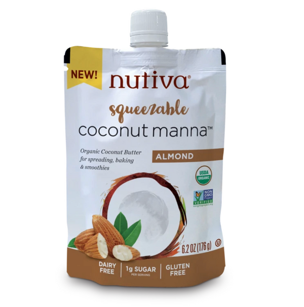 Nutiva Squeezable Coconut Manna Almond Butter