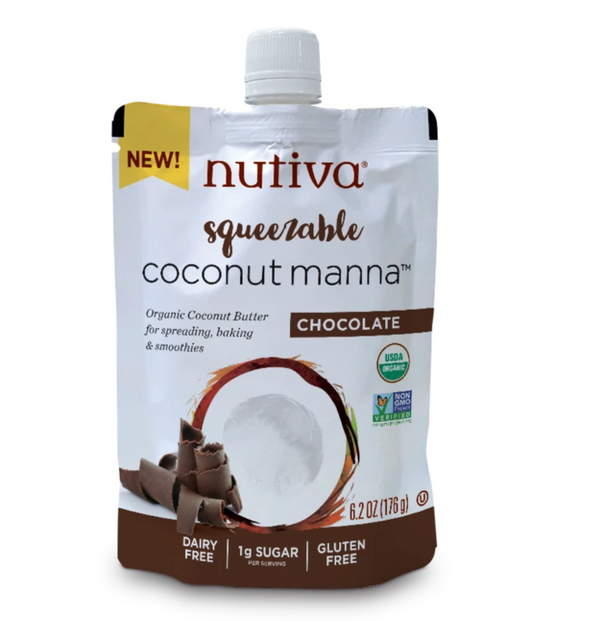 Nutiva Squeezable Coconut Manna Chocolate Butter