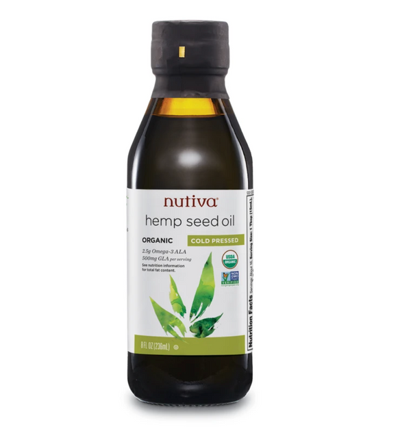 Nutiva Organic cold pressed hemp seed oil