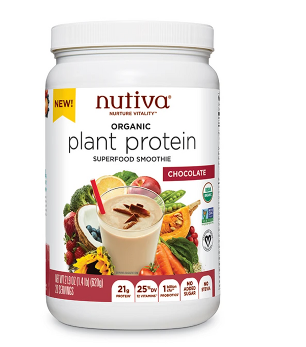 Nutiva Organic Plant Protein Chocolate Superfood Smoothie