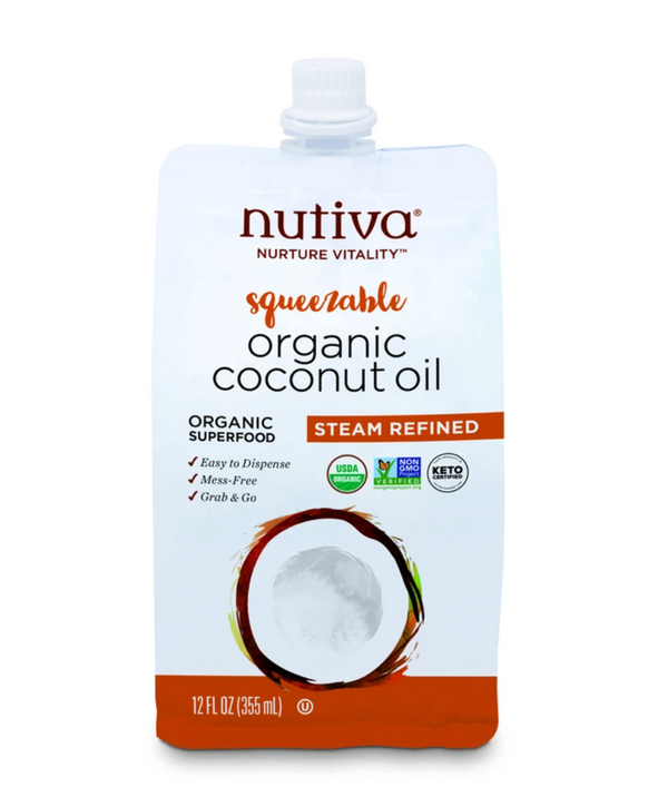 Nutiva Organic Squeezable Steam Refined Organic Coconut Oil
