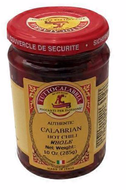 Tutto-Calabrian Hot Whole Calabrian Chili Peppers 10oz