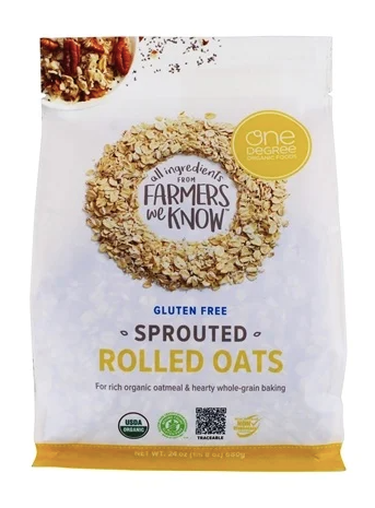 One Degree Organics Sprouted Rolled Oats, Gluten Free