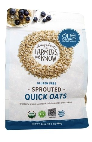 One Degree Organics Sprouted Quick Oats, Gluten Free