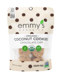 Emmy's Organics Coconut Cookies, Chocolate Chip