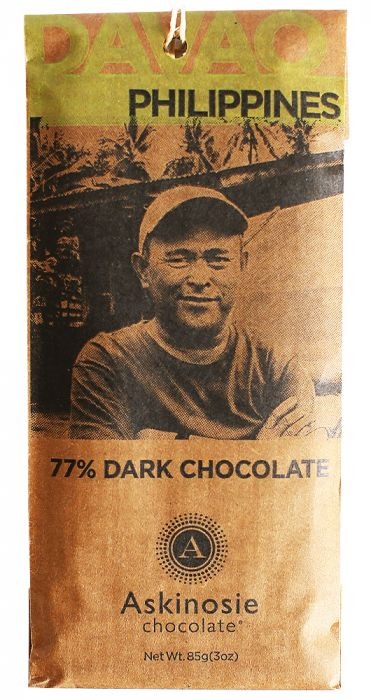 Askinosie Chocolate, 77% Davao, Philippines Dark Chocolate Bar