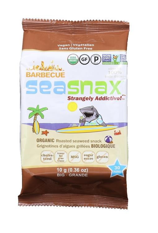 SeaSnax, Roasted Seaweed Snack, Barbecue, 0.36 oz