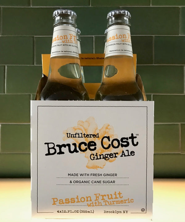Bruce Cost Passion Fruit Ginger Ale, 4-pack