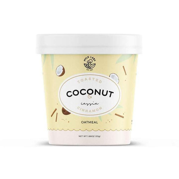 Mylk Labs, Toasted Coconut & Cassia Cinnamon Oatmeal Cup