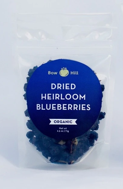 Bow Hill, Dried Organic Heirloom Blueberries, 7 oz