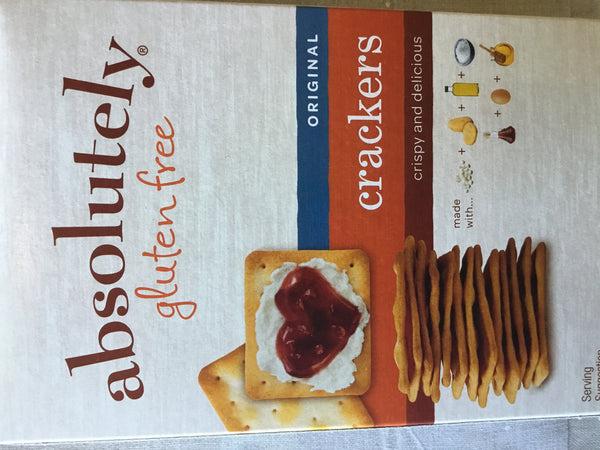 Absolutely gluten free original crackers crispy and delicious.