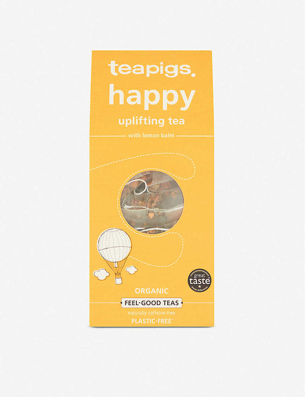 Teapigs happy herbal tea with lemon balm