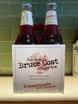 Bruce Cost Pomegranate Ginger Ale, 4-pack