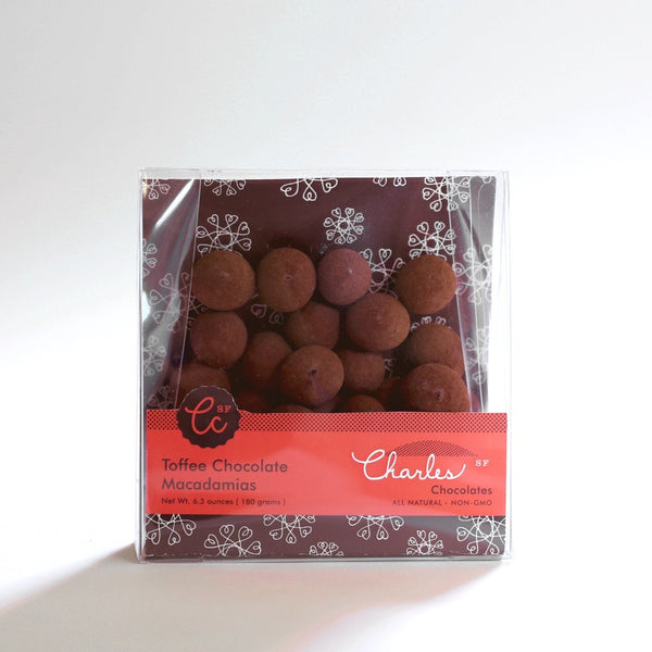 Charles Chocolates Toffee Chocolate Macadamias 6.3 oz