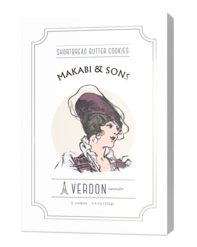 Makabi and Sons Verdon lavender Shortbread Butter cookies