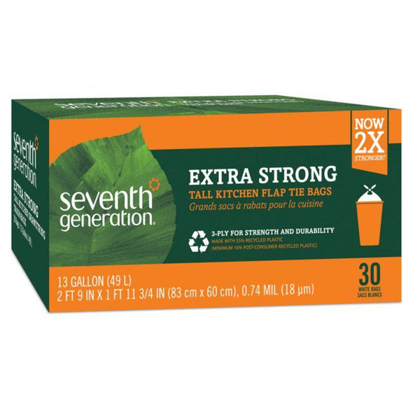 Seventh Generation, Extra Strong Trash Bags, 13 Gallon 30ct