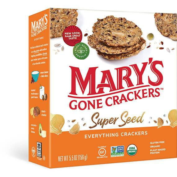 Mary's Gone Crackers, Super Seed Everything Crackers, 5.5oz