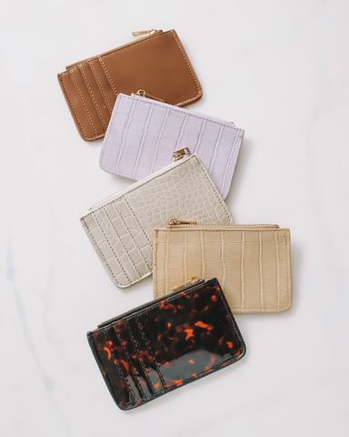 AIMEE CARD HOLDER - TOFFEE PATENT-Handbags-Billini--BILLINI USA
