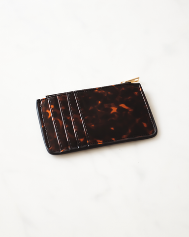 AIMEE CARD HOLDER - TORTOISESHELL-Handbags-Billini--BILLINI USA
