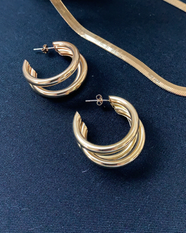 ASHLEE HOOP EARRING - GOLD-EARRINGS-Billini-O/S-BILLINI USA