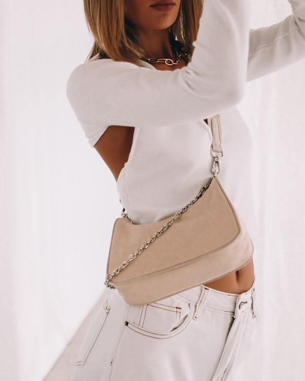 ATTICA CROSS BODY BAG - BEIGE NYLON