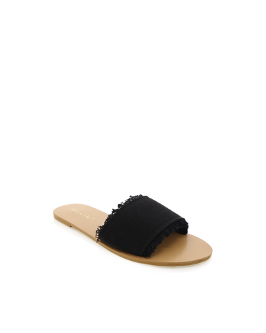 CALGARI - BLACK WOVEN-Sandals-Billini-BILLINI USA