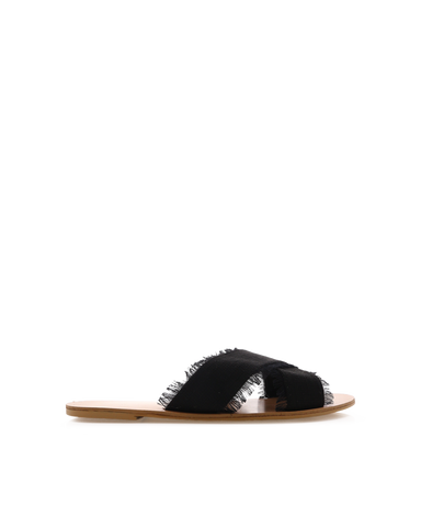 COOPER - BLACK LINEN-Sandals-Billini-BILLINI USA