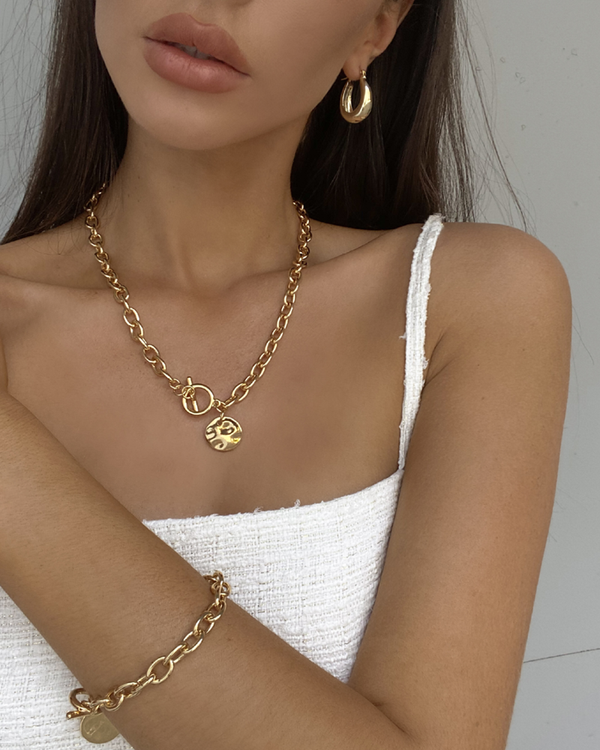 CYGNUS GOLD PLATED NECKLACE - GOLD