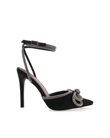 ELOPE - BLACK SATIN-Heels-Billini-BILLINI USA