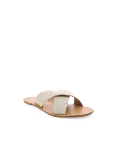 HALE - WHITE CLAY CROC-Sandals-Billini-BILLINI USA