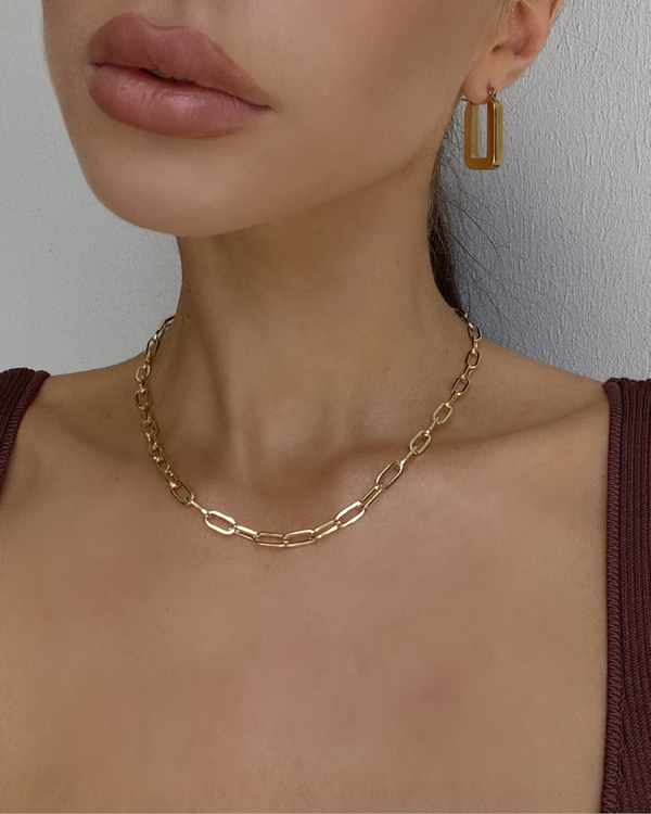 KASIA GOLD PLATED NECKLACE - GOLD