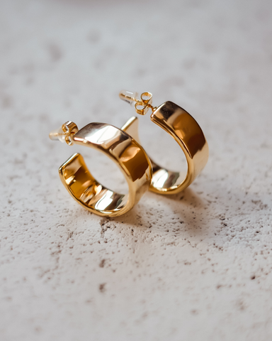KIMBERLY HOOP EARRING - GOLD-EARRINGS-Billini-O/S-BILLINI USA