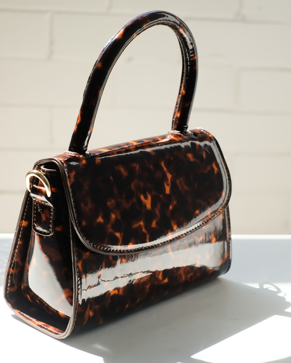 LIV SHOULDER BAG - TORTOISESHELL