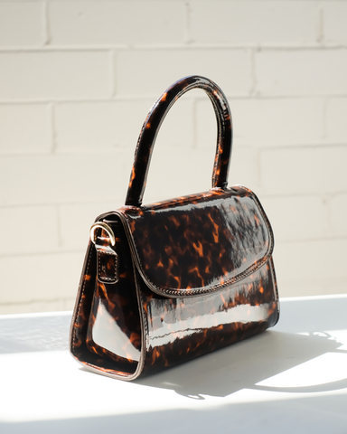 LIV SHOULDER BAG - TORTOISESHELL-Handbags-Billini--BILLINI USA
