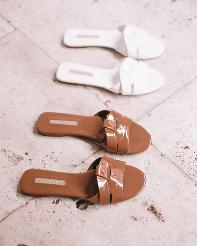 PEPPA - TOFFEE PATENT-Sandals-Billini-BILLINI USA