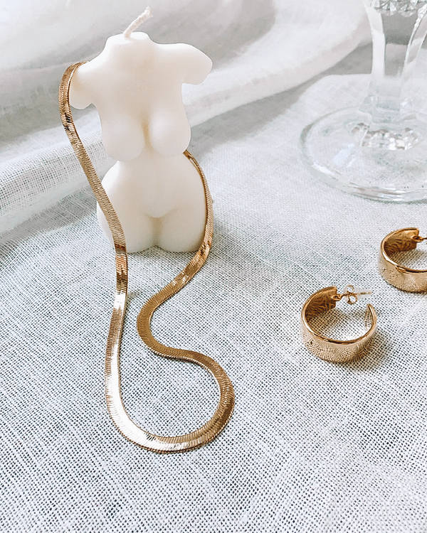KIMBERLY HOOP EARRING - GOLD