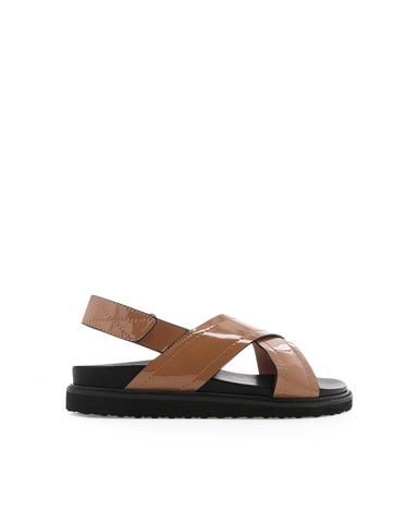 ZENA - TOFFEE PATENT-Sandals-Billini-BILLINI USA