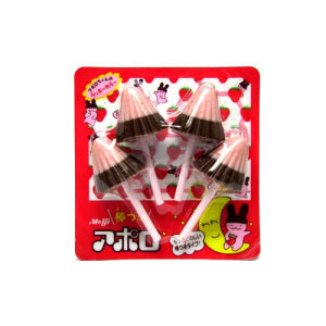 Meiji Apollo Chocolate Strawberry Lollipop