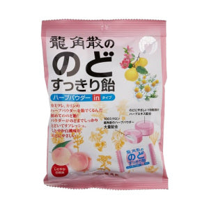 Ryukakusan Herb and Peach Hard Candy (Bag) 80g