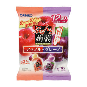 ORIHIRO Konjac Jelly Apple + Grape Flavor 20g*12