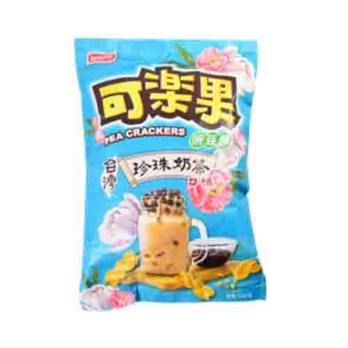 Lianhwa Pea Crackers (Boba Milk Tea Flavor) 105g