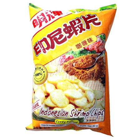 Brillant Indoesian Shrimp Chips (Curry) 80g