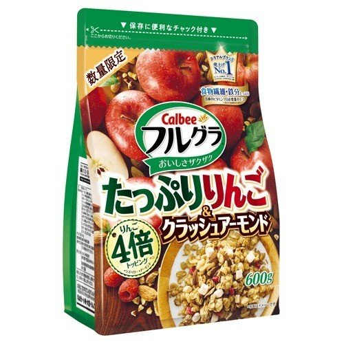 Calbee Apple Almond Granola full GAR 600g