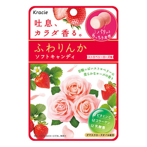 Kracie Strawberry Rose Taste Soft Candy 32g