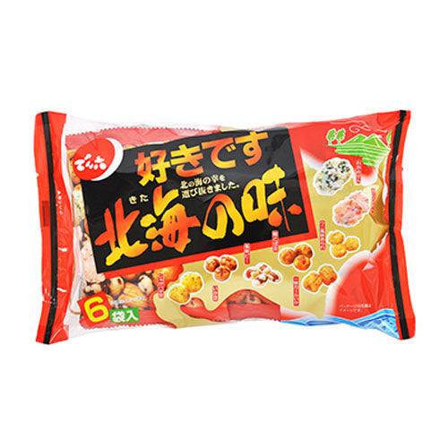 DENROKU Peanut Fish Rice Cracker (6 packs) 130g