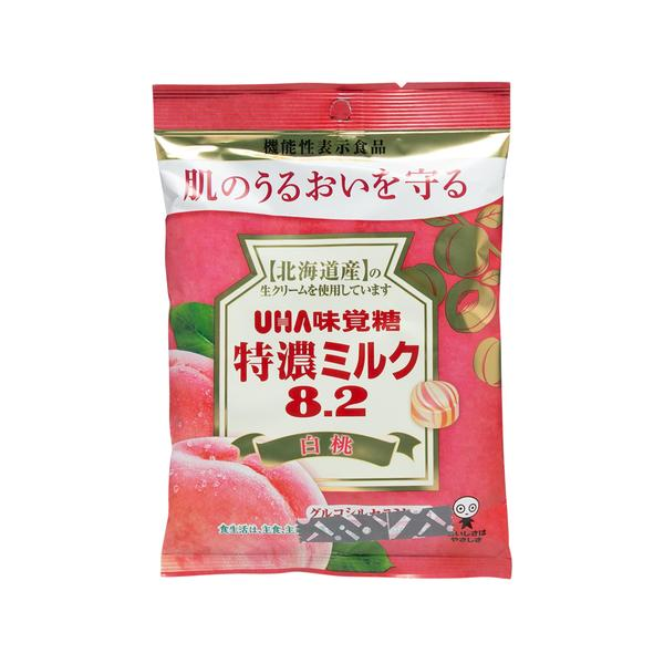 UHA 8.2 White Peach Milk Candy 84g