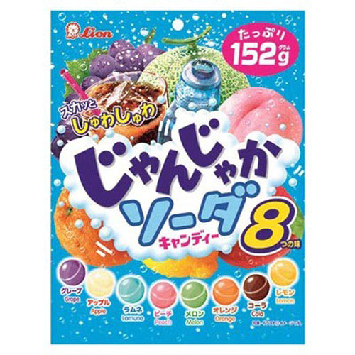 Lion 8 Assorted Fruits Soda Candy 152g